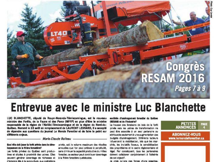 Le Monde Forestier 2016