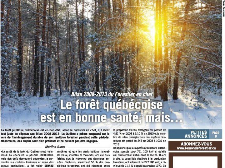 Le Monde Forestier 2015