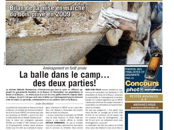 Le Monde forestier 2010